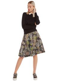 Essentiel Nay Brocade Skirt - Black