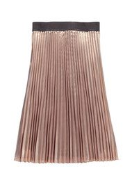 Essentiel Nis Pleated Midi Skirt - Dark Vanilla