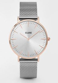 CLUSE La Boheme Mesh Watch - Silver & Rose Gold