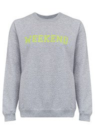 ON THE RISE Weekend Jumper - Grey & Neon Yellow