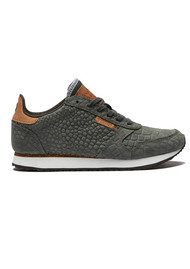 WODEN Ydun Croco Trainers - Dark Grey