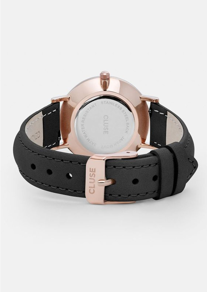 CLUSE Minuit Rose Gold Watch - Black & Black main image