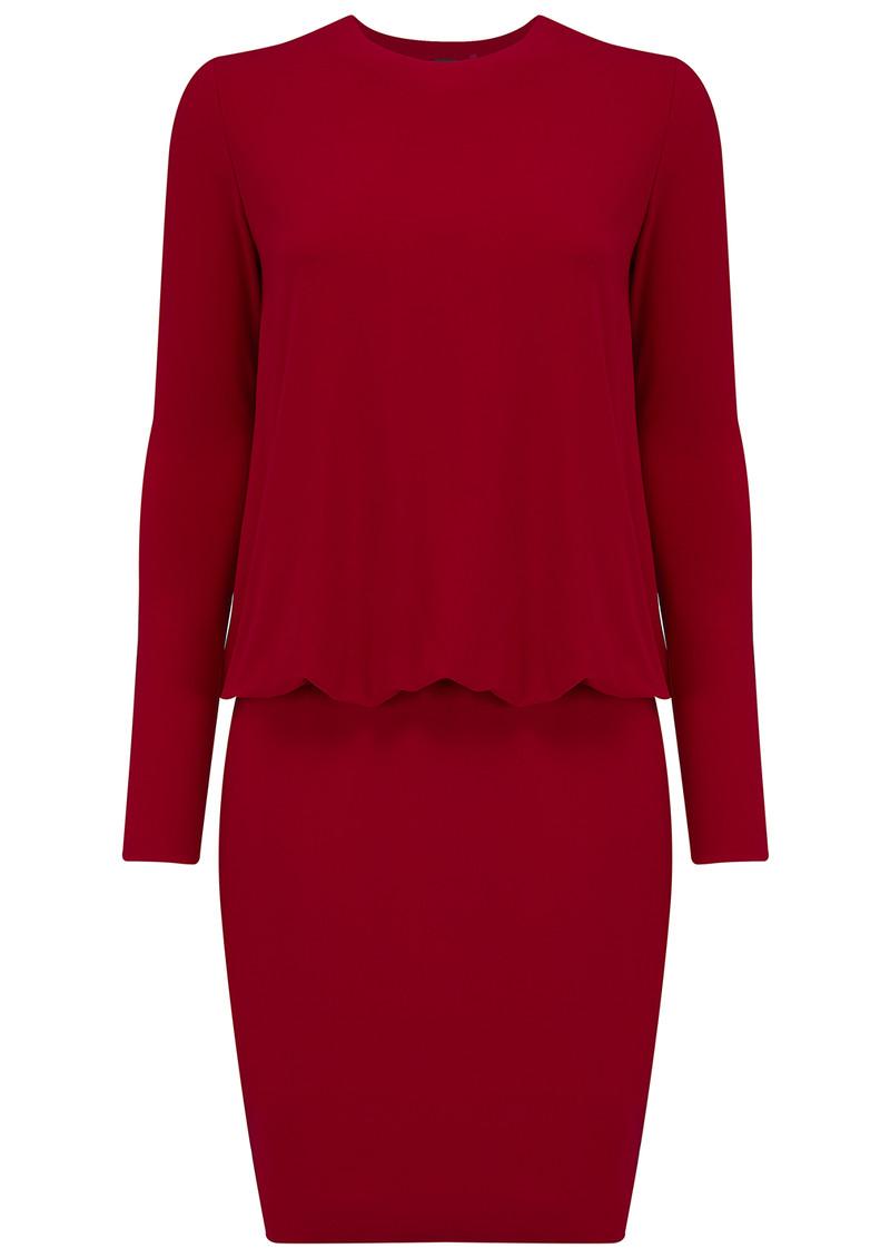 KAMALI KULTURE Long Sleeve Babydoll Dress - Red main image