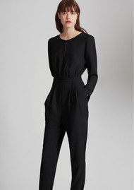 Great Plains Tuxedo Jumpsuit - True Black