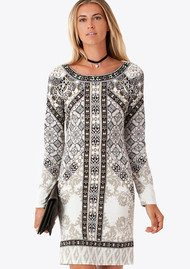 Hale Bob Zella Beaded Dress - Beige