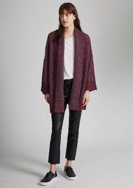 Great Plains Sparkle Silent Oversized Cardigan - Elderberry & Silver