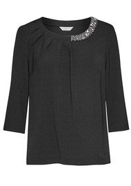 Great Plains Lapland Embellished Top - Black