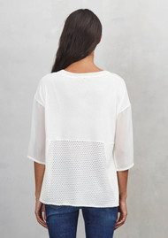 Great Plains Mixed Blend Long Sleeve Top - Milk White