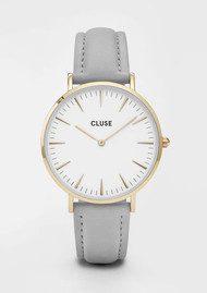 CLUSE La Boheme Gold Watch - White & Grey