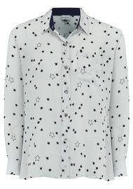 Mercy Delta Goodwood Stars Silk Shirt - Sea Breeze