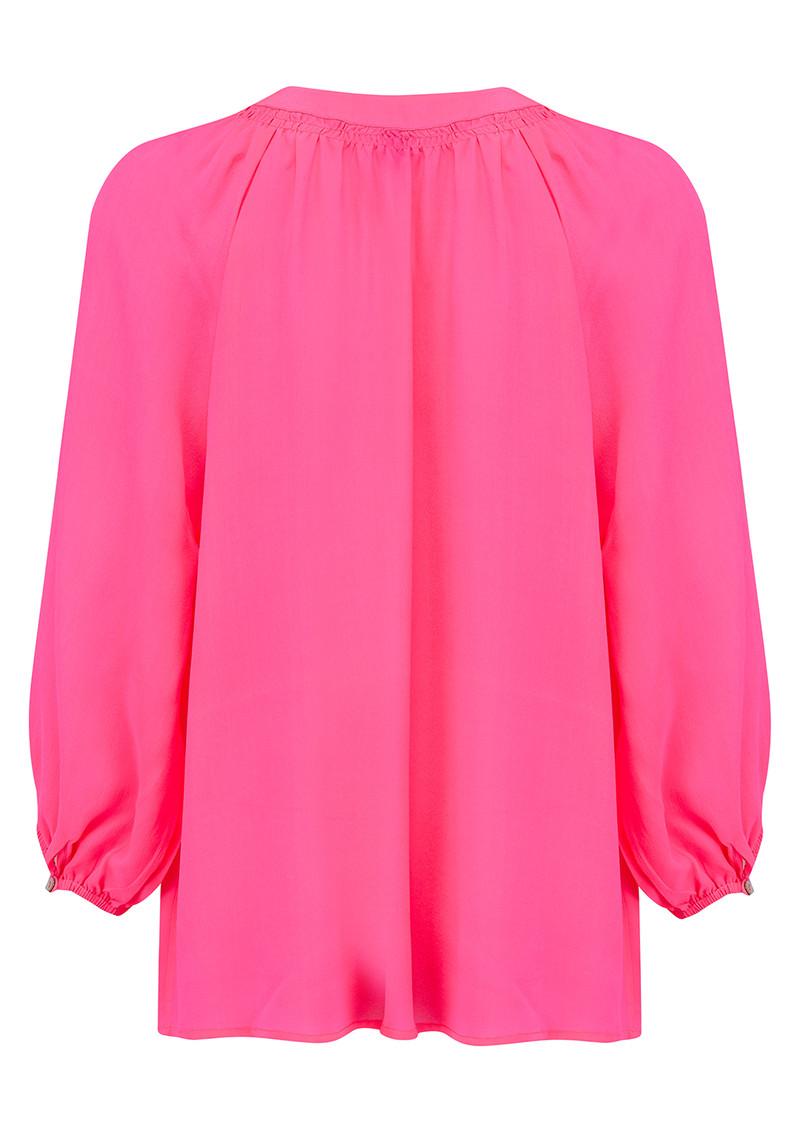 Mercy Delta Clevedon Silk Blouse - Neon Pink main image