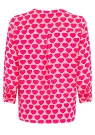 Mercy Delta Stanford Hearts Silk Blouse - Cherry Pie