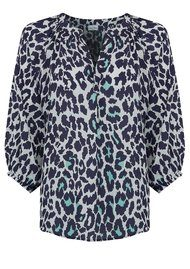 Mercy Delta Clevedon Safari Silk Blouse - Sea Breeze