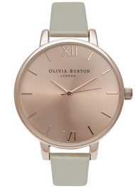 Olivia Burton Big Dial Watch - Grey & Rose Gold