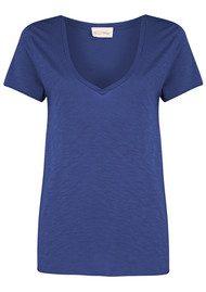 American Vintage Jacksonville Short Sleeve T-Shirt - Cobalt