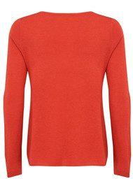 American Vintage Blossom V Neck Sweater - Nasturium