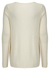 American Vintage Blossom V Neck Sweater - Ivory Chine