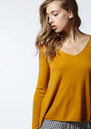 Blossom V Neck Sweater - Ivory Chine additional image