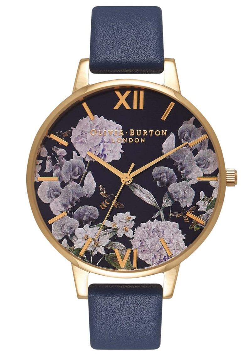 Enchanted Garden Midnight Dial Watch - Gold main image