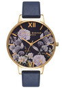 Olivia Burton Enchanted Garden Midnight Dial Watch - Gold