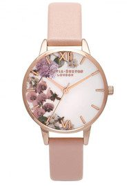 Olivia Burton Enchanted Garden Midi Watch - Dusty Pink & Rose Gold