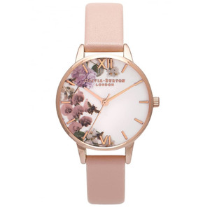 Enchanted Garden Midi Watch - Dusty Pink & Rose Gold