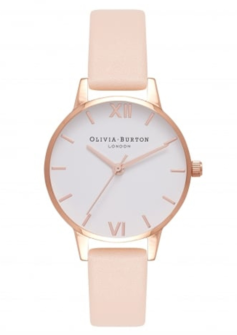 Olivia Burton Midi Dial White Dial Watch - Nude Peach & Rose Gold main image