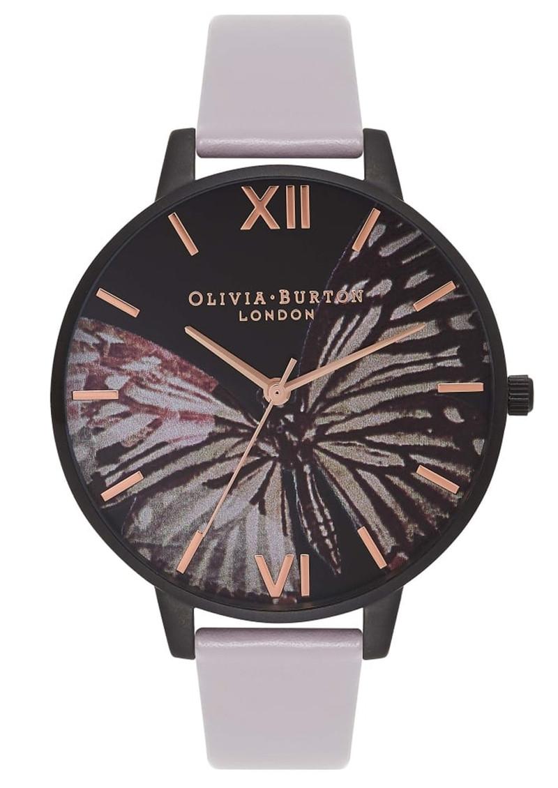 Olivia Burton After Dark Butterfly Watch - Grey Lilac & IP Black main image