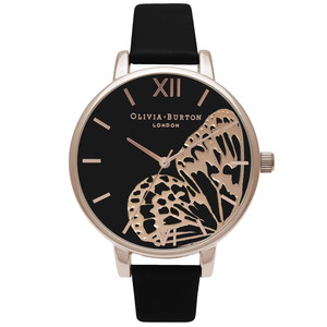 Applied Wing Watch - Black & Rose Gold