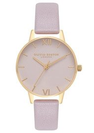 Olivia Burton Midi Dial Blush Dial Watch - Grey Lilac & Gold