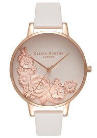 Olivia Burton Moulded Floral Bouquet Watch - Blush & Rose Gold