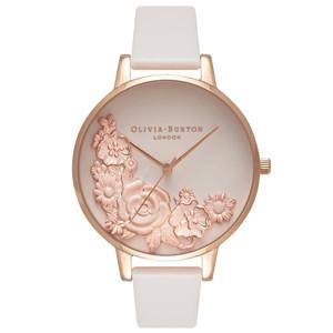 Moulded Floral Bouquet Watch - Blush & Rose Gold