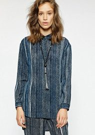 SACKS Bailey Silk Printed Shirt - Stripes