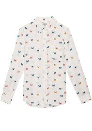 Rails Kate Silk Shirt - White Butterfly