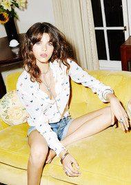 Rails Kate Silk Shirt - White Butterfly