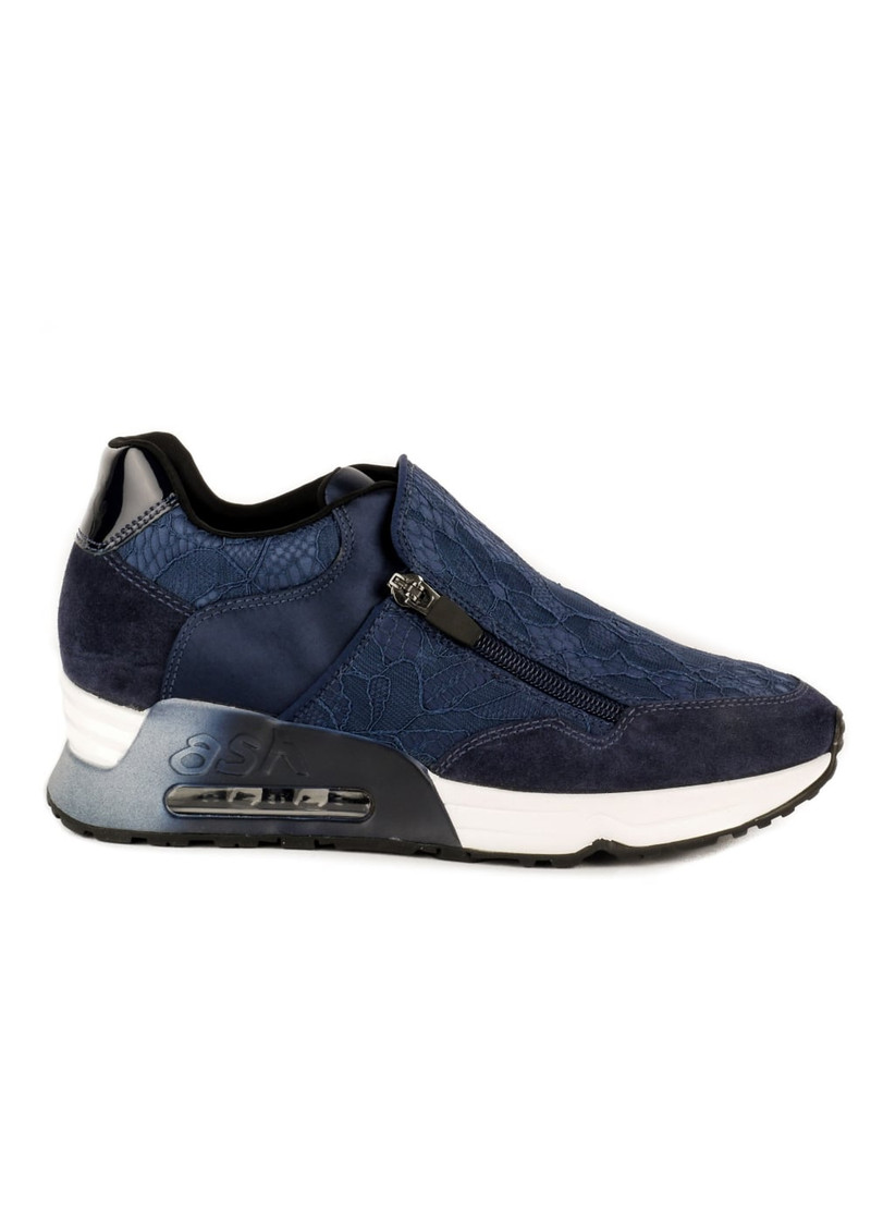 Ash Look Lace Trainers - Navy main image