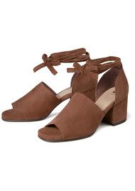 Hudson London Metta Suede Sandal - Tan
