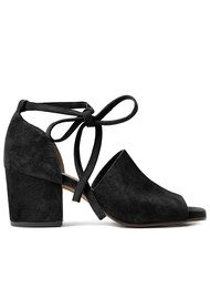 Hudson London Metta Suede Sandal - Black