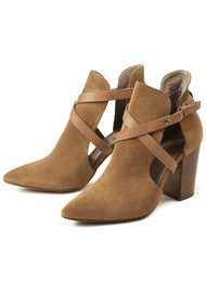 Hudson London Geneve Suede Ankle Boot - Cognac