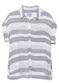Rails Whitney Sleeveless Shirt - White & Ash