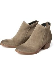 Hudson London Apisi Suede Boot - Beige