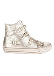 Ash Virgin Leather Buckle Trainers - Platine