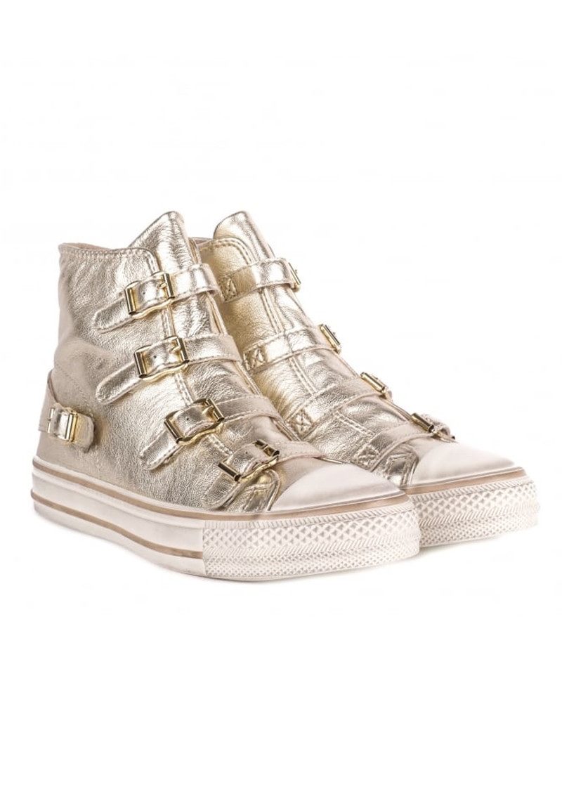 Ash Virgin Leather Buckle Trainers - Platine main image