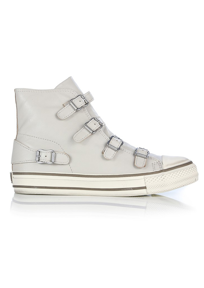 Ash Virgin Leather Buckle Trainers - Pearl main image