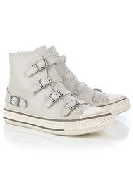 Ash Virgin Leather Buckle Trainers - Pearl
