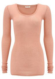 American Vintage Massachusetts Long Sleeve T-Shirt - Rose