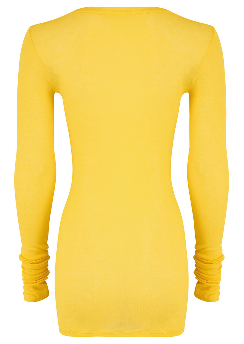 American Vintage Massachusetts Long Sleeve T-Shirt - Dandelion main image