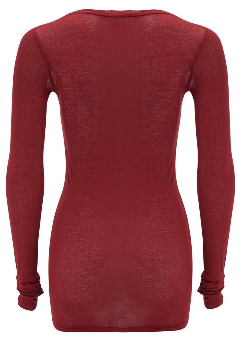 American Vintage Massachusetts Long Sleeve T-Shirt - Cherry main image