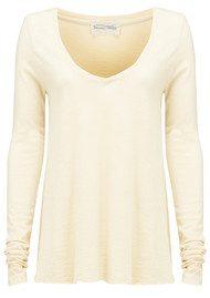 American Vintage Jacksonville Long Sleeved T-Shirt - Ivory