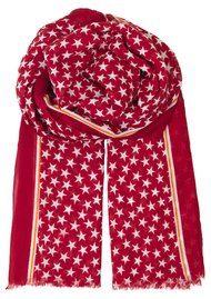 Becksondergaard Etoiles Cotton Star Scarf - Scarlet Sage